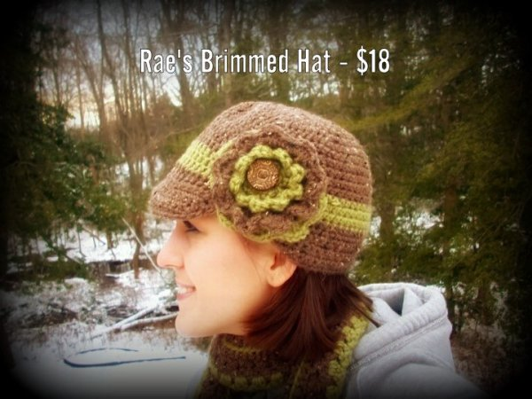 Rae's Brimmed Hat - $18