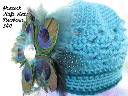 Peacock Newborn Hat price