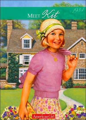 "book cover jacket of ""Meet Kit"" it's an American Girl book"