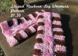 Striped Newborn Leg Warmers Pattern Price