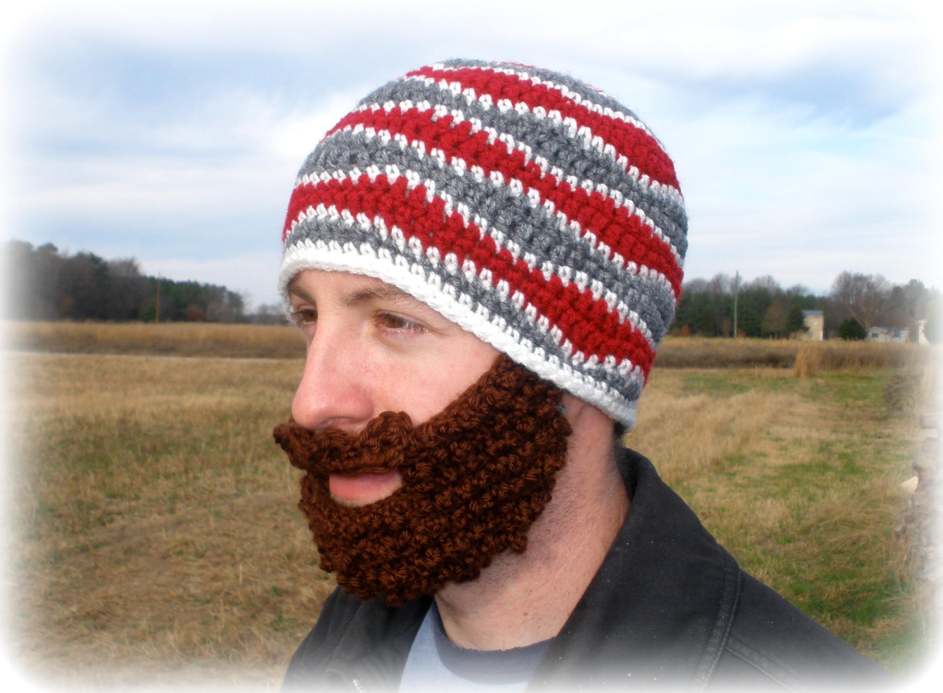 The No-Grow Beard Crochet Pattern | Warming the Heart